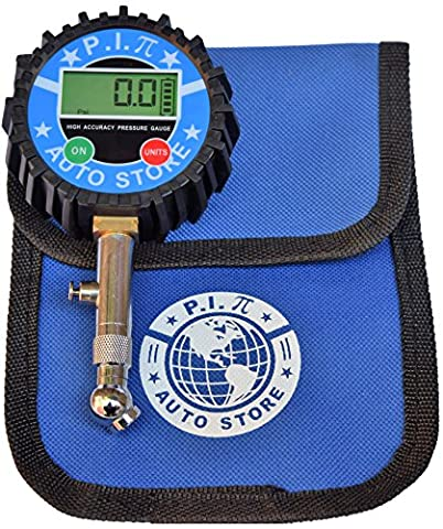 P.I. Auto Store Premium Digital Tire Pressure Gauge. 200Psi. Heavy Duty, highly accurate. With storage pouch. Best for Car, Truck, ATV, RV, Motorcycle & (Auto Tek Car Amp)