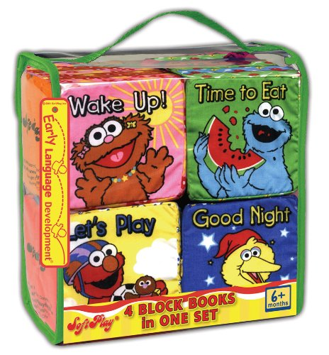 Read Online All Day with Sesame: Wake Up, Time to Eat, Let's Play, Good Night! (4 Cloth Block Books Set) (Sesame Street) pdf epub