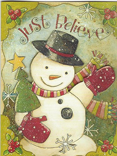 Believe Card - Lang Tip On Christmas Cards, Box Of 16, Just Believe By Karen Good (113)