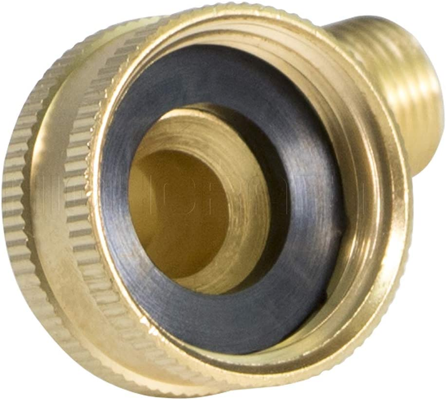 3//8 x 3//4 brass HIGHCRAFT 4I9-FM Lead Free Dishwasher Swivel Elbow Fitting with Compression and Female Hose Connections