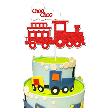 Astonishing Train Cake Topper Choo Choo Train Second Birthday Cake Decor Personalised Birthday Cards Veneteletsinfo