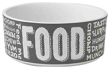 Pet Rageous - 5 vasos de pizarra para alimentos, agua, color ...