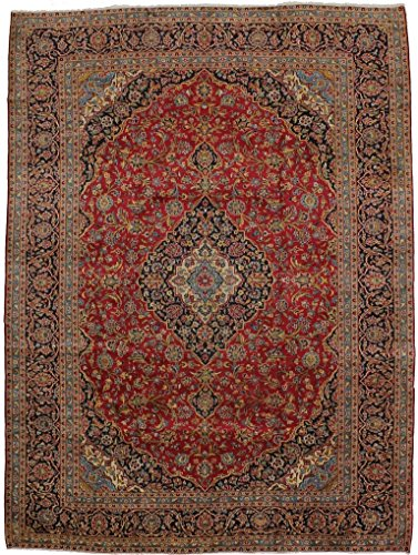 - Nice S Antique Traditional Handmade Kashan Persian Style Rug Oriental Area Carpet 10X13
