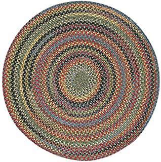 product image for Capel Rugs High Rock Round Braided Area Rug, 7', Green