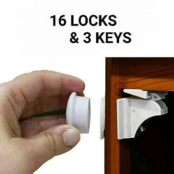 Suministro UE Toddler Beb/é Ni/ños Ni/ño Caj/ón Armario Puerta Catch cierre de seguridad ya Lock Pack de 10