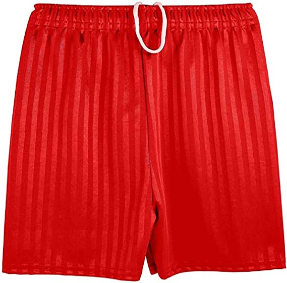 Girls Children Unisex Gym School Sports Football Shadow Strips Shorts Boys Adult