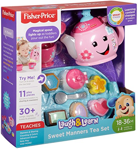 61zOy3IyPvL - Fisher-Price Laugh & Learn Sweet Manners Tea Set