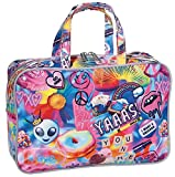iscream 'Psychedelic Collage' 12.25'' x 8.25'' Double Handle Zippered Cosmetic Bag