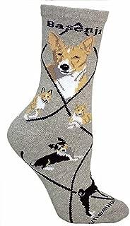product image for Basenji Animal Socks On Gray 9-11