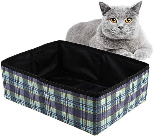 Caja de Arena para Gatos Plegable, Caja de Arena Plegable para ...
