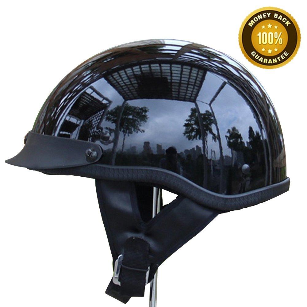 A.B Crew DOT Motorcycle Half Helmet Summer Motorcycle Helmet Adult Scooter Half Helmet