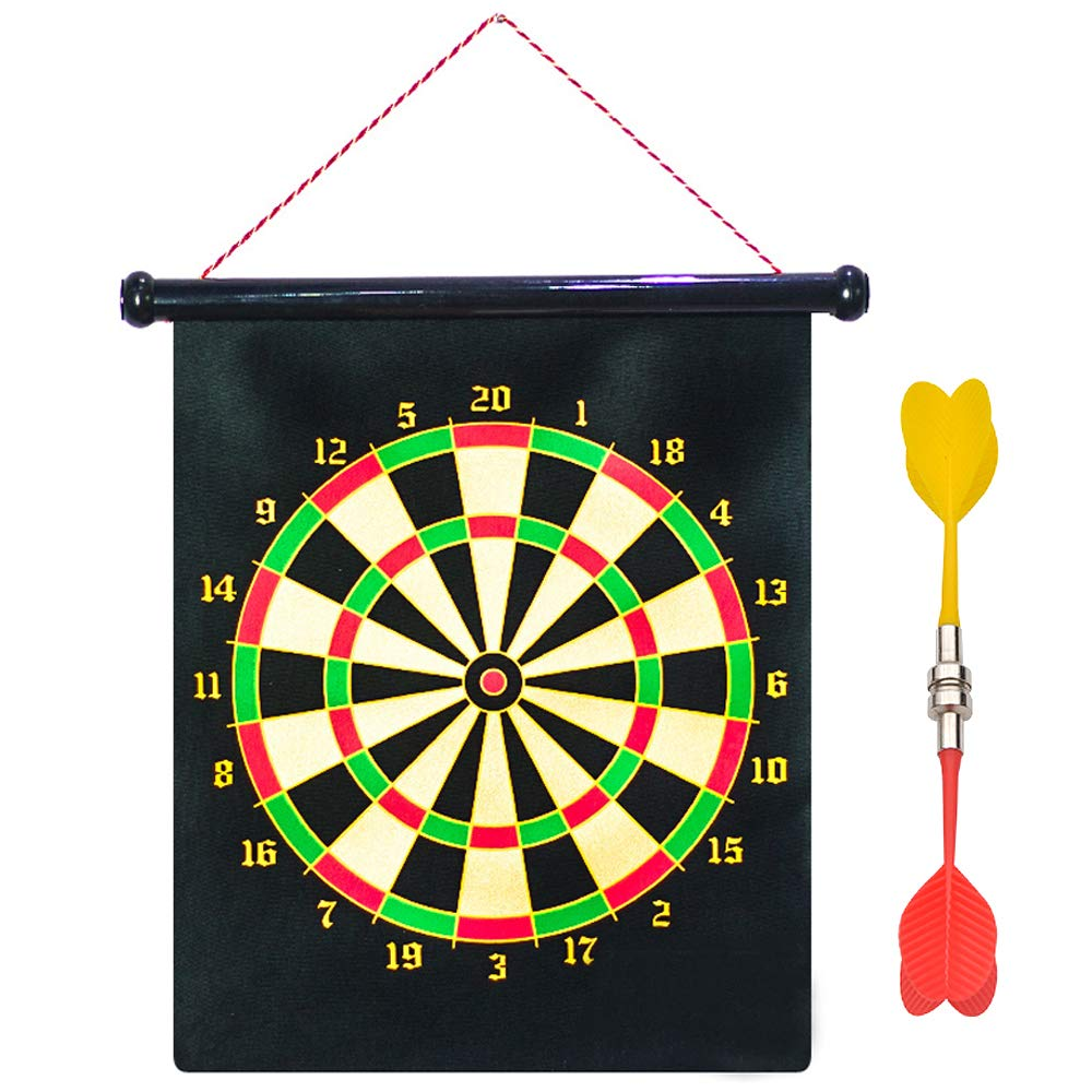 Magnetic Safety Dart Board Double Sided Hanging Rubber Roll-up Magnetic Dart Board Set Kids or Whole Family Leisure Sports