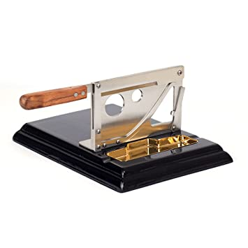 Amazon.com: Stainless Steel Table Top Guillotine Cigar Cutter Slicer ...