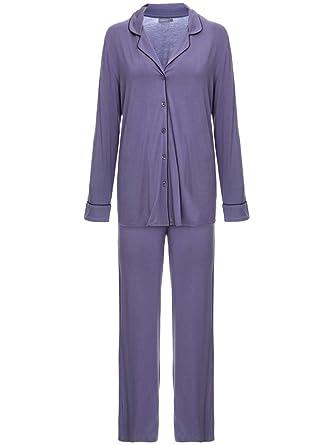 c885c1d62 Pijama Loungerie Longo Visco Classic Azul  Amazon.com.br  Amazon Moda