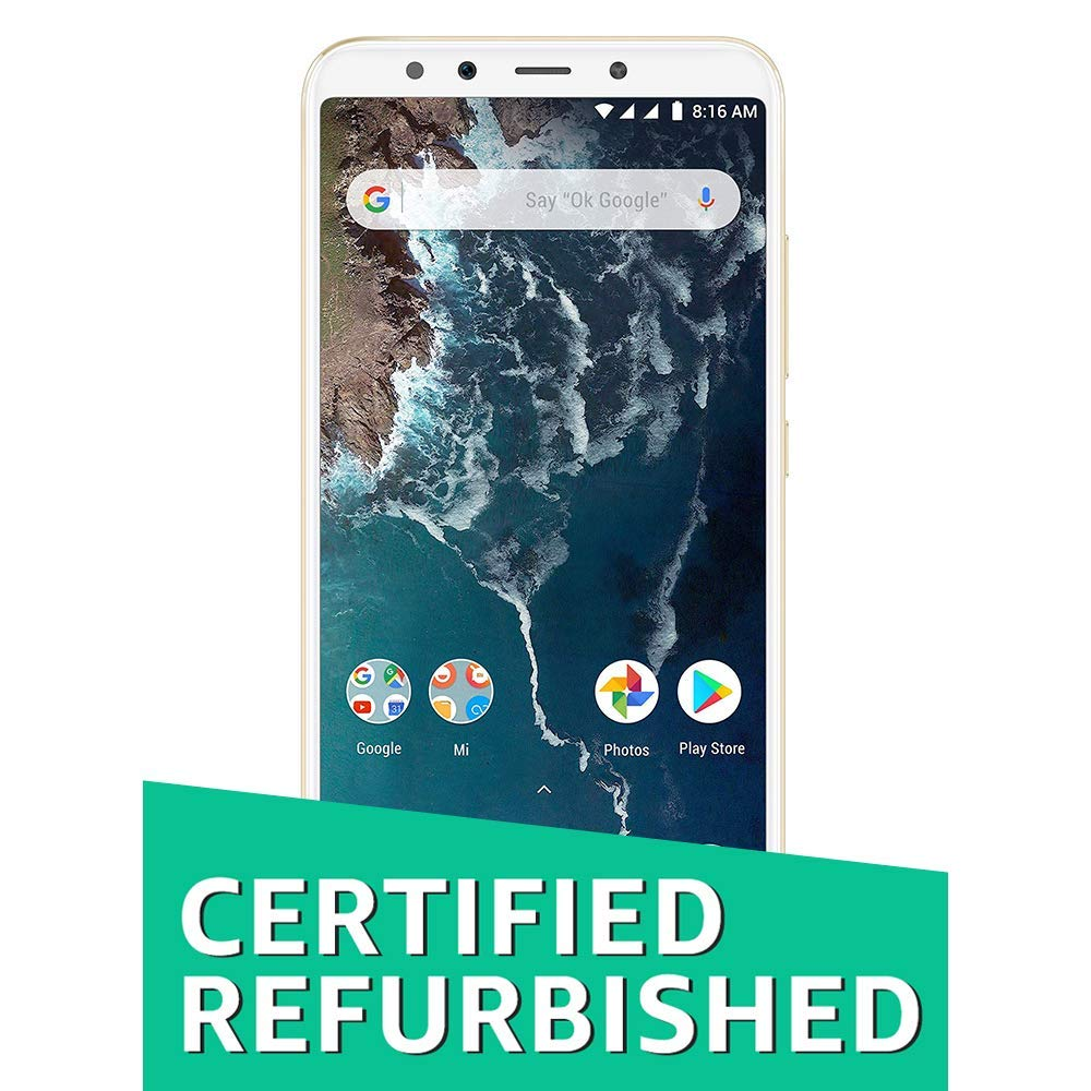 (CERTIFIED REFURBISHED) Mi A2 (Gold, 64GB)