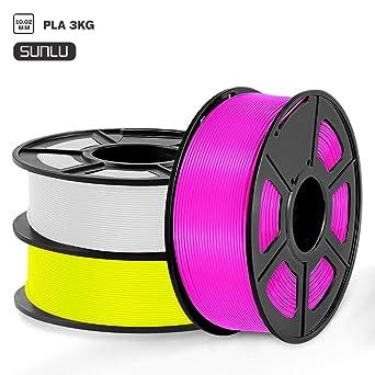 SUNLU Filamento PLA 1.75mm 3kg Impresora 3D Filamento, Precisión ...
