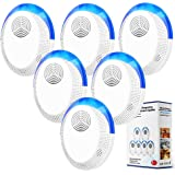 Ultrasonic Pest Repeller 6 Pack, Ultrasonic Pest Repellent, Indoor Pest Control Electronic Plug in, Insect Repellent for…
