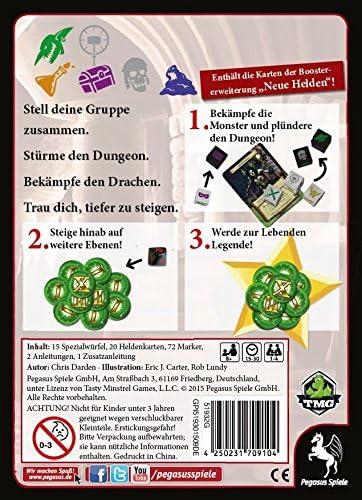 Pegasus Juegos 51932 g – Dungeon Roll, de 2 Edition Incluye Nueva Héroes Booster de Tablero: Amazon.es: Juguetes y juegos