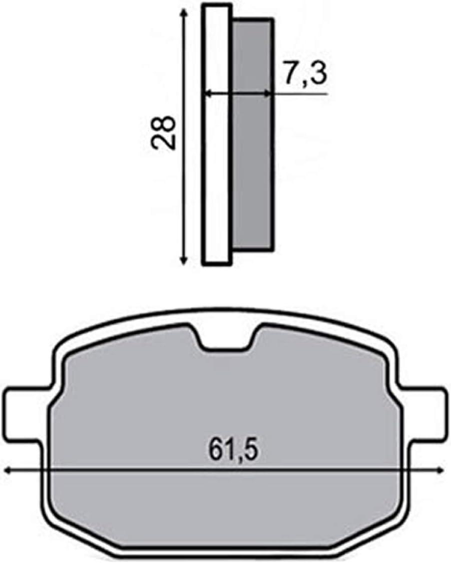 Ersatz Bremsbel/äge kompatibel mit Flex Tech Speedy RC 50 TVZ 50 Speedy 50 China 4T vorne
