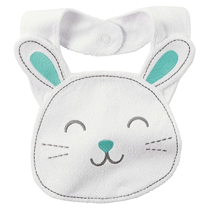 NEW Carter/'s Easter Bunny White Terry Cloth Teething Unisex Unisex Baby Bib