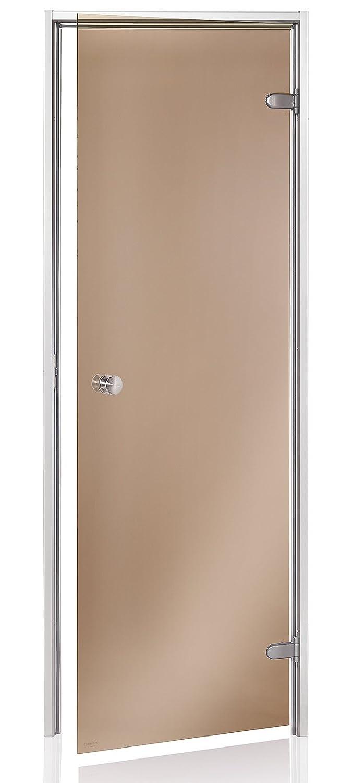 Taille d /'ouverture Aluminium 60 x 190//70 x 190//70 x 200; Couleur du verre AD Standart portes de hammam Transparent ou Bronze; Mat/ériel de cadre