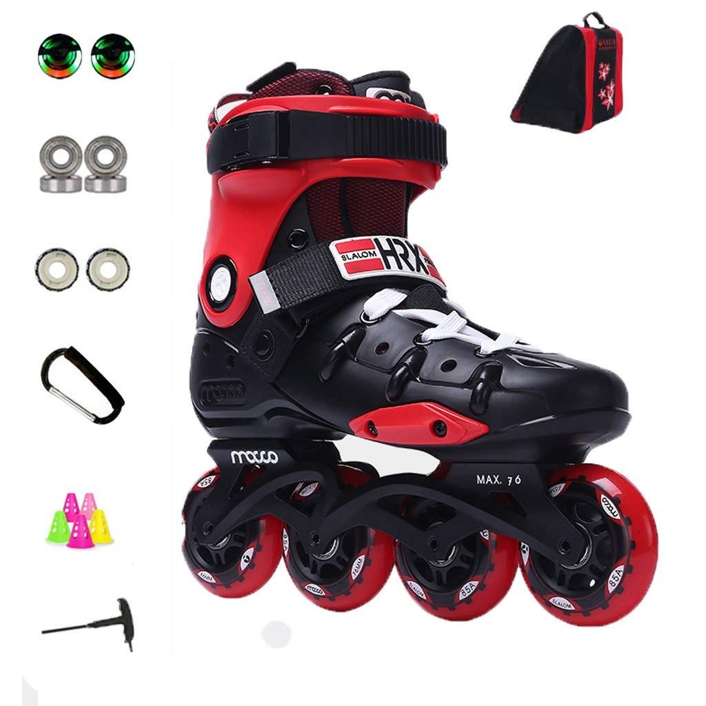 ZHANGHAIMING アダルトインラインスケート、大学アウトドアレジャーローラースケート、メンズレディーススポーツローラーブレード、赤 (Color : B, Size : EU 43/US 10/UK 9/JP 26.5cm) B EU 43/US 10/UK 9/JP 26.5cm