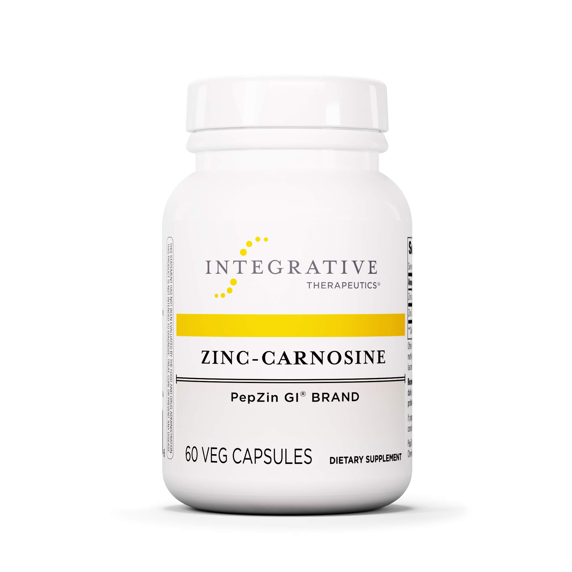 Integrative Therapeutics - Zinc-Carnosine - PepZin GI Brand - Supports Healthy Gastrointestinal Lining & Relieve Gastric Discomfort - 60 Capsules by Integrative Therapeutics