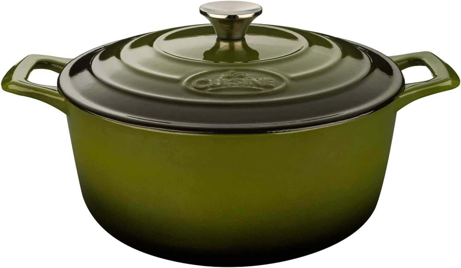 La Cuisine 6.5 Qt Enameled Cast Iron Covered Round Dutch Oven, Green