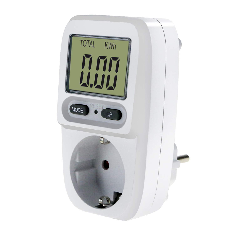 Zaeel Energiekostenmessgerä t Stromkostenmessgerä t Leistungsmessgerä t, Energiekosten-Messgerä t mit LCD Bildschirm, Ü berlastsicherung, Maximale Leistung 3680W