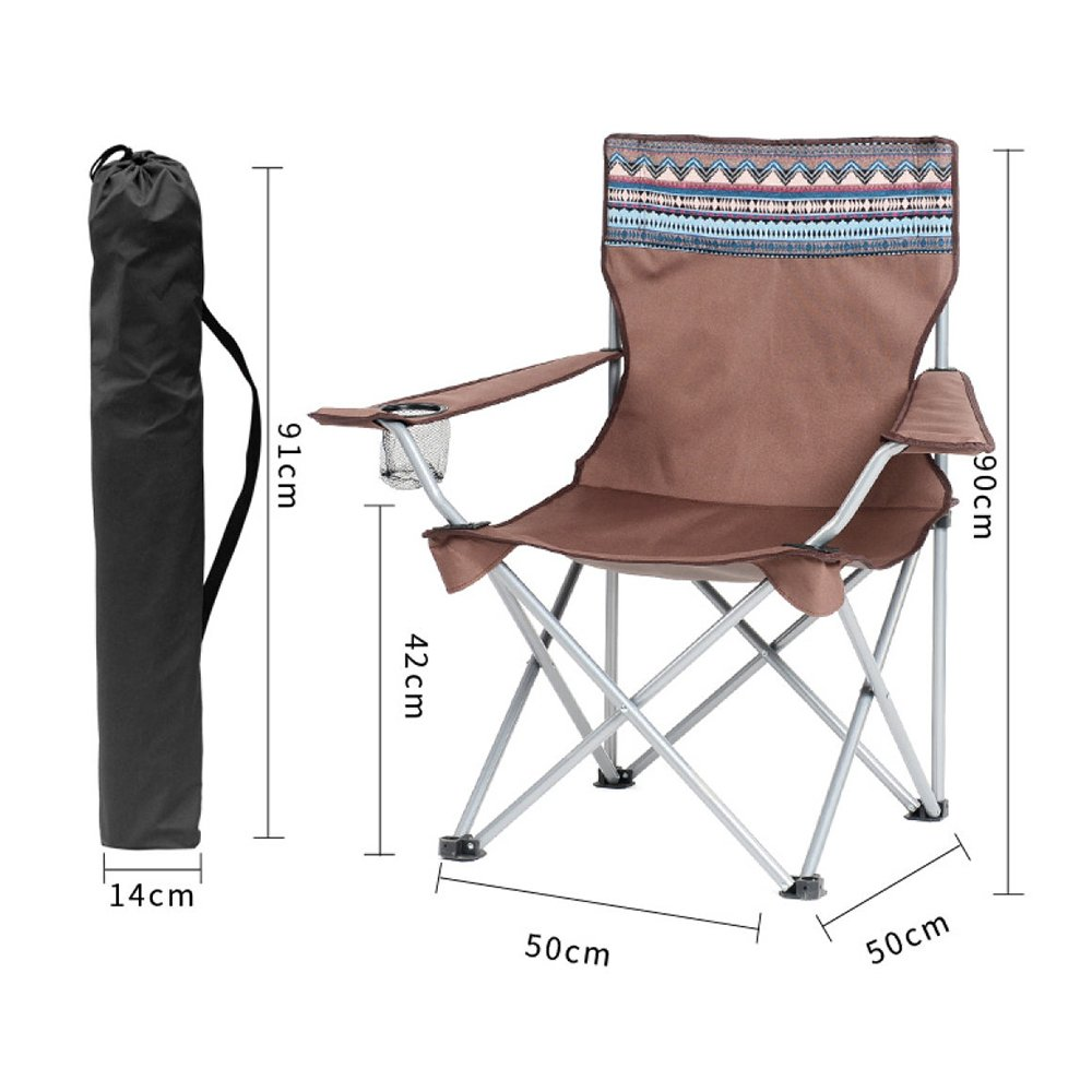 LDFN Portable Camping Chair Outdoor Casual Multifunktionsstuhl Strand Skizze Eisenstuhl,Q