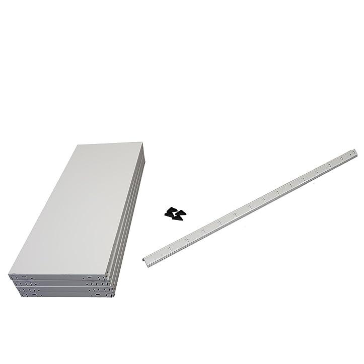 Steckregalsystem metall  Regal Steckregal weiß Metall 180x75x35cm Regalsystem ...