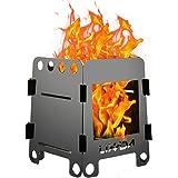Lixada バーベキューコンロ・焚火台 折りたたみ 薪ストーブ 燃料不要 ウッドバーニング プレート付き
