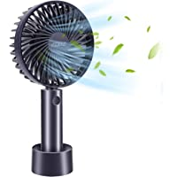 Portable Handheld Fan, Mini Desk fan, SZMDLX, USB Rechargeable 3 Speed Mini Handheld Fan with Base, Suitable for Home…
