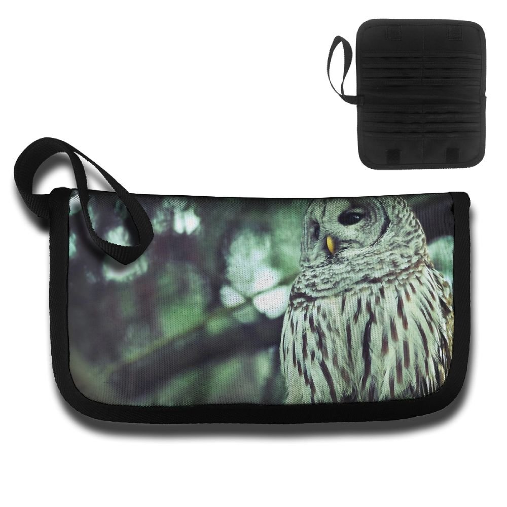Cool Animal White Owl Stands On The Tree Multi-function Travel Document Receipt And Receipt Bag Fashion Printing Card Package