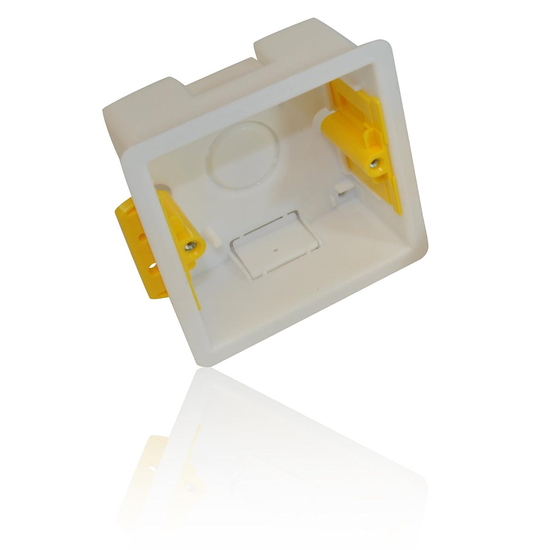 Single Dry Lining Back Box/ Pattress Box 35mm 1 Gang CDL Micro
