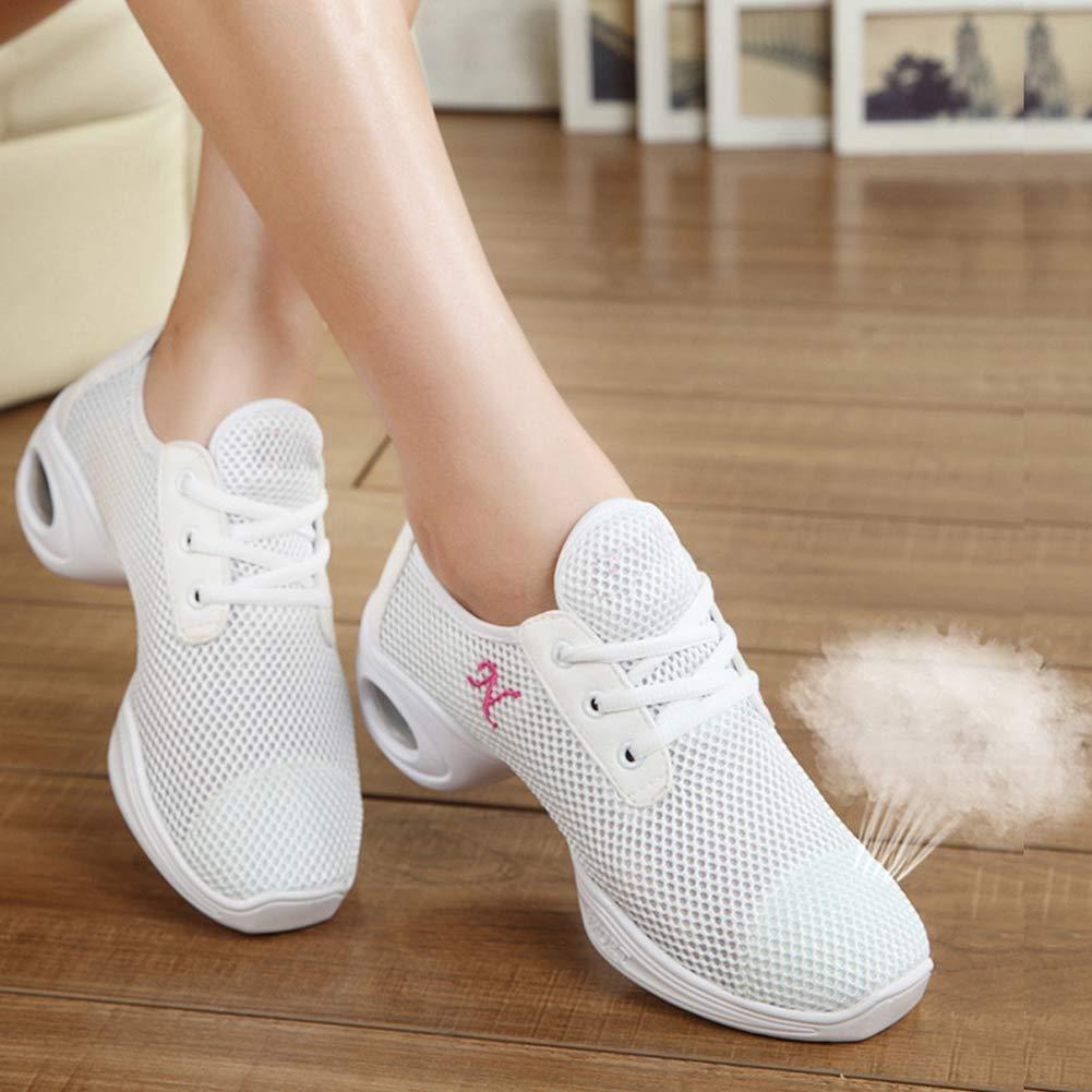 Mujeres Zapatos de Baile Rejilla Transpirable SXSHUN Zapatillas de Danza Moderna Calzados Transpirables con Tac/ón