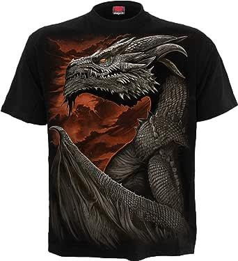 Spiral Majestic Draco Camiseta Negro