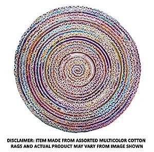 Amazon Com Cotton Craft Jute Amp Cotton Multi Chindi Braid