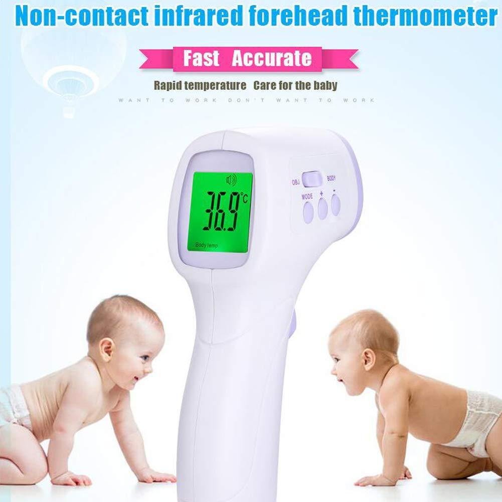 CQ Termometro per Bambini Digitale Infrarossi LCD Senza Contatto Corpo Acqua Elettronica per Latte Acqua Camera Medico Adulto
