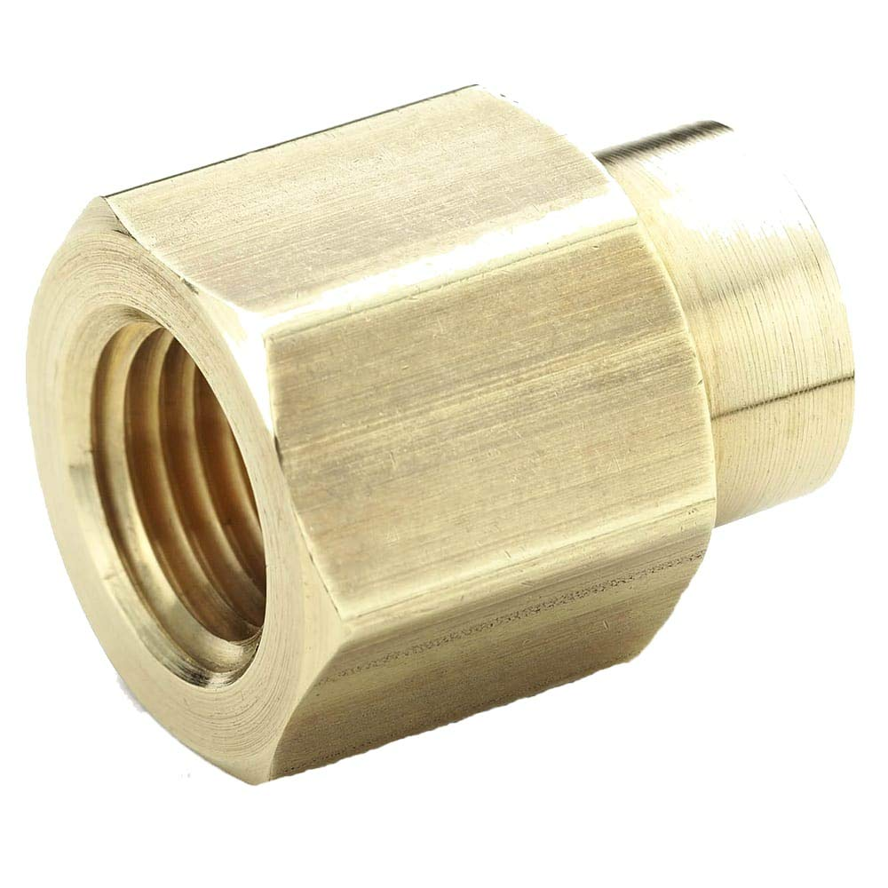 3//8 Female Thread x 1//4 Female Thread Parker Hannifin 208P-6-4 Brass Reducer Coupling Pipe Fitting