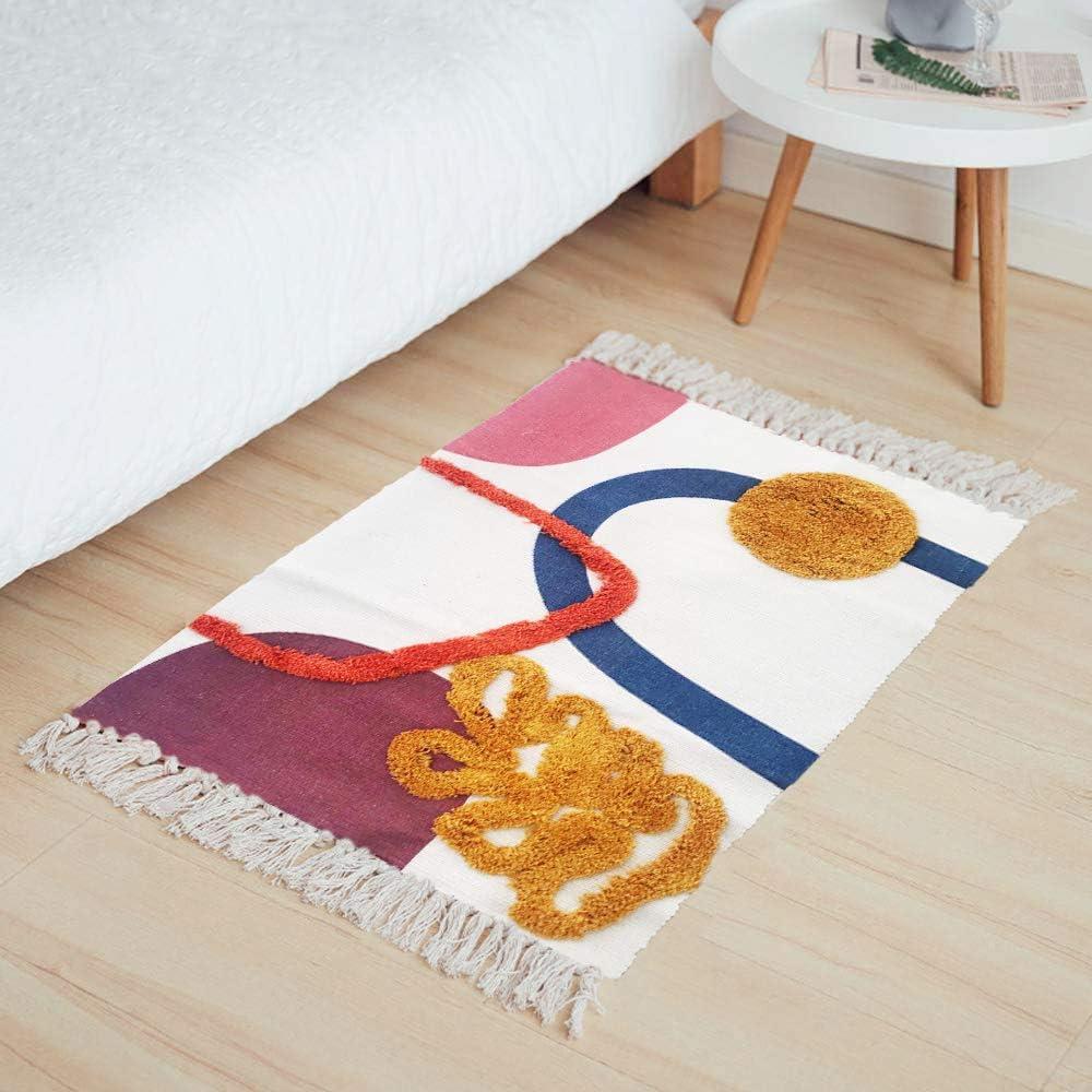 Hand woven Cotton Morroccan rugs carpet crafts Killim ...