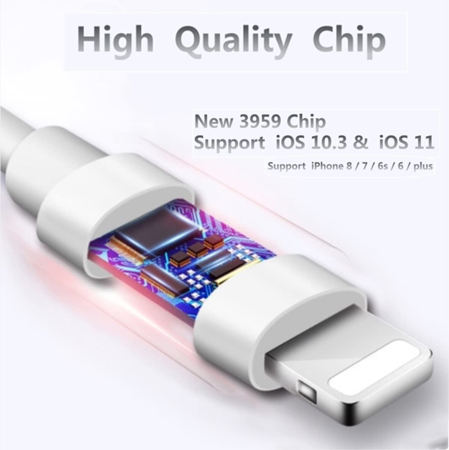 iphone 7 / 7 plus / 8 / X adapter, (Support iOS 10.3, 11)Cone 2 in 1 Lightning Adapter and Charger, Lightning to 3.5mm Aux Headphone Jack Audio Gender ...