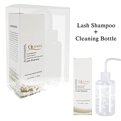 68bb9165c20 Eyelash Extension Cleanser -Foaming 100 ML Eyelash Shampoo/Wash Eyelash  Extension Safe For Daily Use And Is Oil Free With Rinse Bottle And Soft  Brush: ...