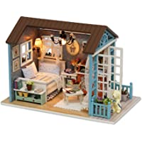 CUTEBEE Mini Wooden Dollhouse with Furnitures DIY Assembling House Miniature Crafts Toys for Children and Teens. Forest…