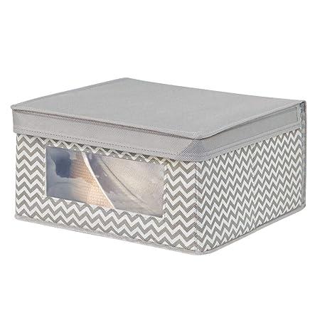 mDesign Caja con tapa - ideal como caja almacenaje para juguetes o ...