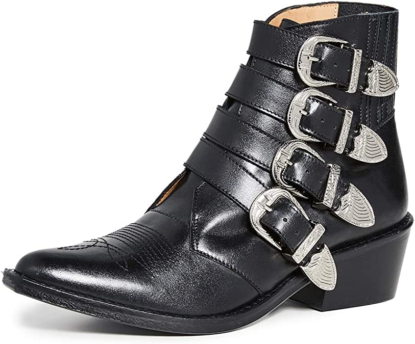 Toga Pulla Women's Buckled Booties