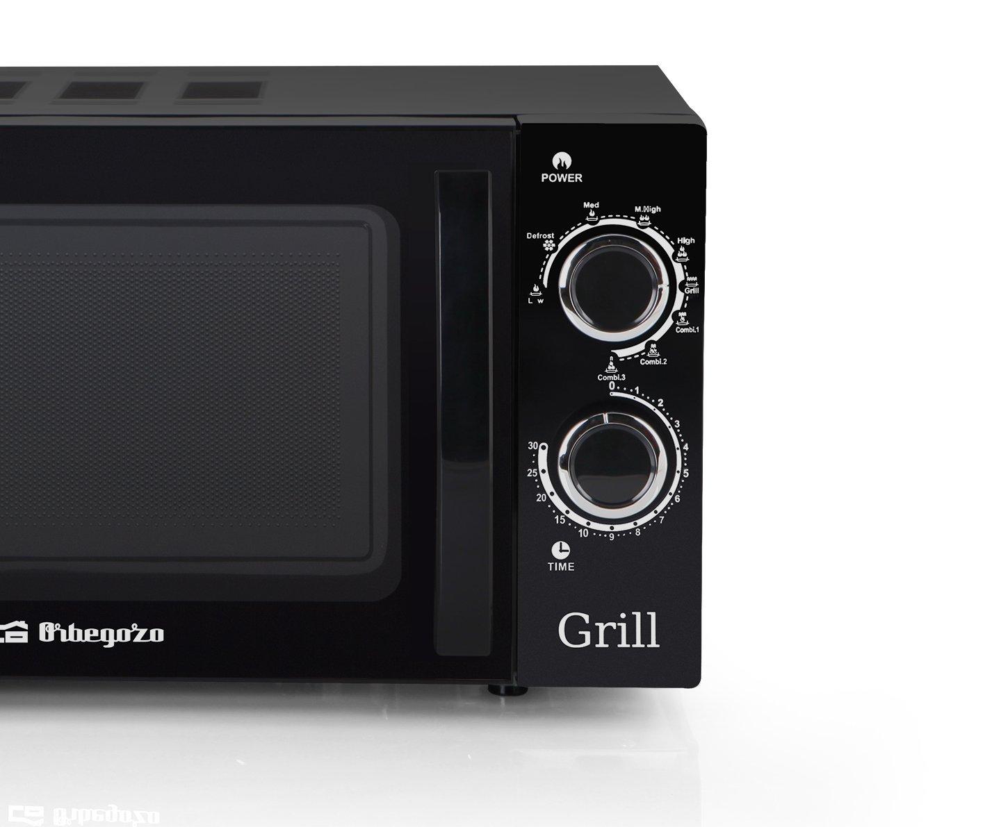 Orbegozo MIG 2031 - Microondas con grill (700 W, 20 L, 9 niveles de funcionamento), color negro