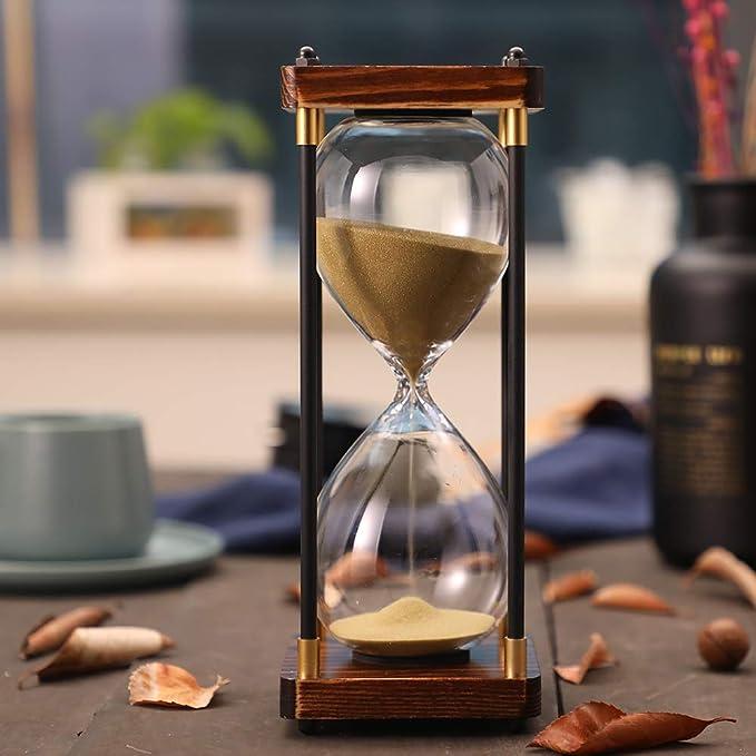 Vosarea 3 Mins Sand Timer Hourglass Sandglass Timer Wooden Sand Clock Timer Brushing Timer Games Timer for Home Office