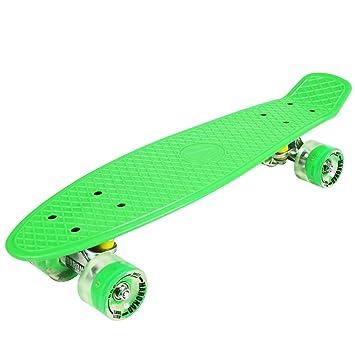 Penny ABEC - 7 - Monopatín skate board con ruedas LED iluminación (verde) 97653c8505b