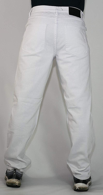 tipo straight fit pantalones Urban Star Wash Peviani Jeans color blanco para hombre comodidad g fit de mezclilla de algod/ón.